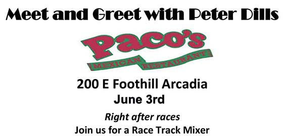 Meet and Greet with Peter Dills at Pacos